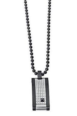 Collana in acciaio nero con cristalli neri 2jewels Uomo