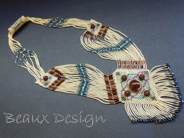 Celtic Weave Beaded Off-loom necklace by Robin Howard.