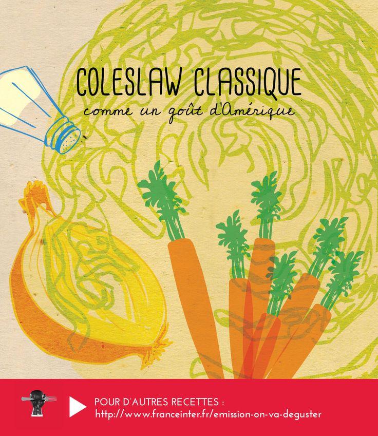 Du chou , des carottes, un oignon... La vraie recette américaine de Coleslaw révélée par Carrie Solomon dans ON VA DEGUSTER sur France Inter - RECETTE ICI http://www.franceinter.fr/emission-on-va-deguster-happy-thanksgiving