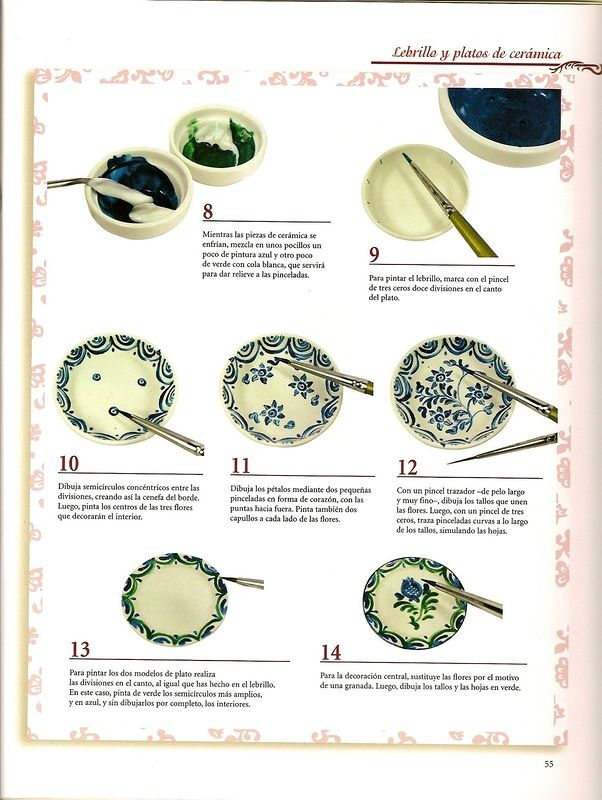 Love this plate tutorial, using upside down knobs for a perfect plate. Fimo Must try this Doll miniatyura.Kniga. Russian