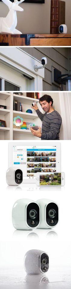 Эти камеры на 100% без проводов. HD камеры держат умный дом в безопасности.