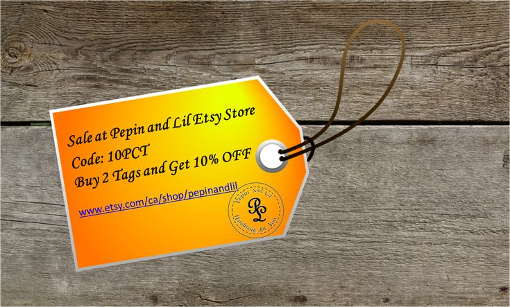 Pre-Easter Sale, BUY ANY 2 TAGS and GET 10%OFF. Check out Pepin and Lil for tags for any occasion.