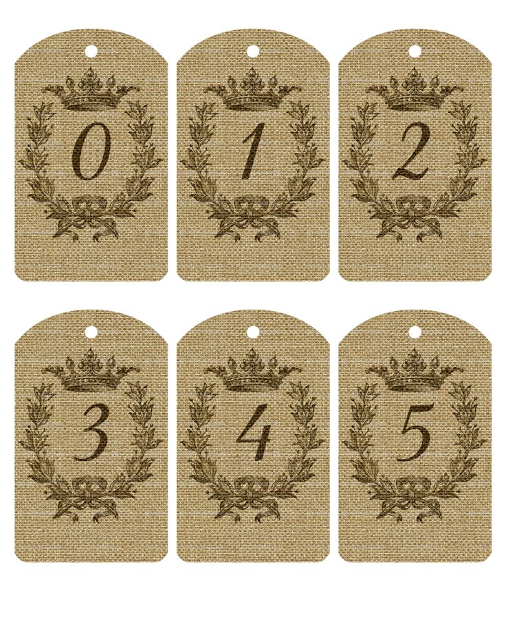 Burlap Numer Tags Free A Set from 1-20 - The Cottage Market ~ FREE