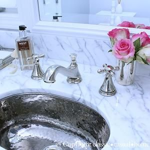 Hammered Metal Sink, Traditional, bathroom, Classic Casual Home