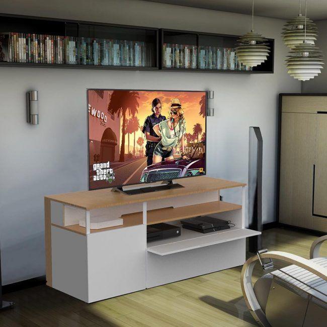 Geeko Devoile Les Prix De Ses Meubles Tv Gaming Mobilier De Salon Meuble Tv Meuble Blanc