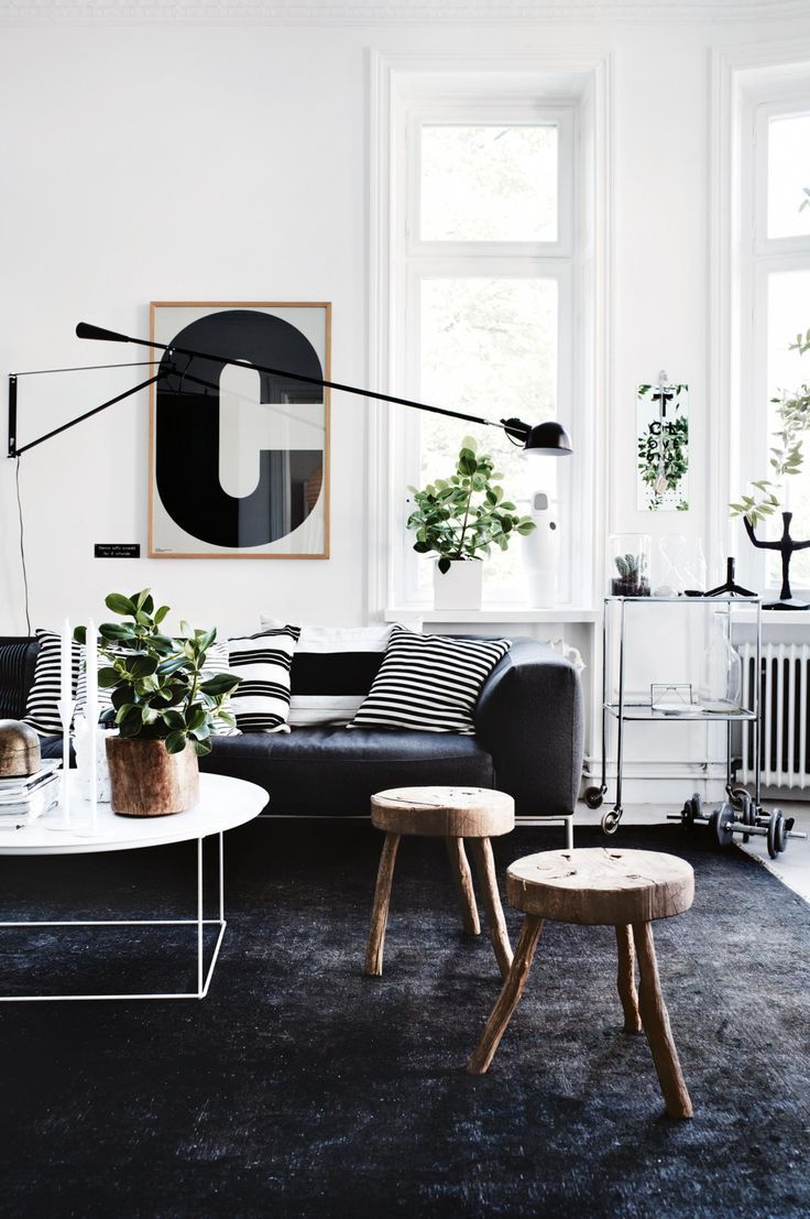 A Stockholm Apartment Is Transformed Into A Modern Family Home Photography B Black Carpet Living Room Living Room Scandinavian Scandinavian Design Living Room