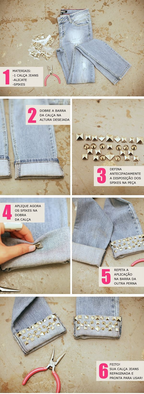 DIY: Customizar Calça Jeans - Decor e Salto Alto - Blog de Moda