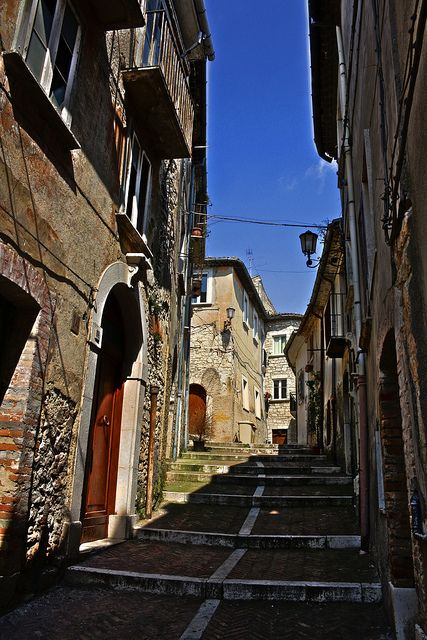 Ancient town street -Campobasso, province of campobasso , Molise region Italy