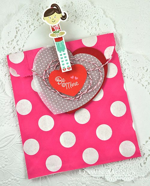 Be Mine Treat Bag By Dawn McVey For Papertrey Ink