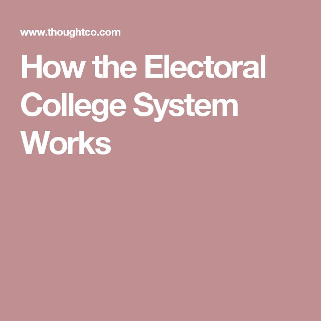How the Electoral College System Works