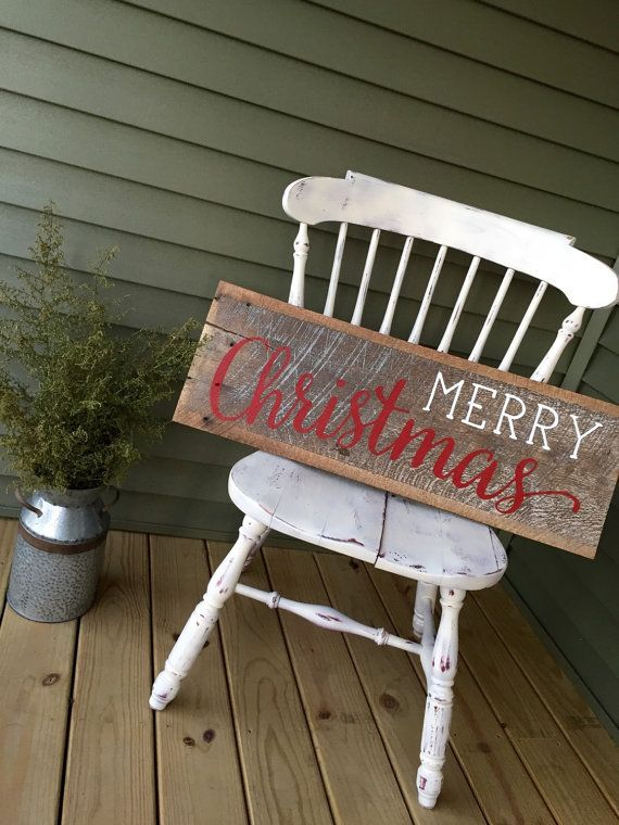 Reclaimed Barnwood Sign Merry Christmas by ShopSimplyInspired