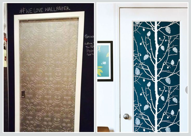 DOOR - Completely cover or just inset, wallpaper transforms these doors from ordinary to stunning!