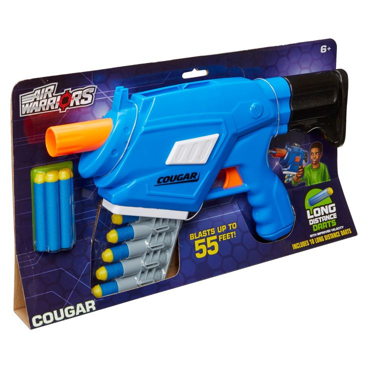 Buzz Bee Toys Air Warriors Cougar with 10 darts