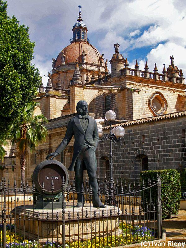 Jerez church and Tio Pepe, the celebrated Sherry of Jerez  #Andalucia http://tomatours.com/andalucia