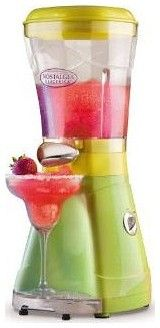 Enjoy cold, ice blended margaritas, daiquiris, coffees and other refreshing chilled, blended drinks with the 64 Oz. Margarator Frozen Drink Machine.  This margarita maker utilizes a patented grind and shave mechanism that crushes ice perfectly $64.95
