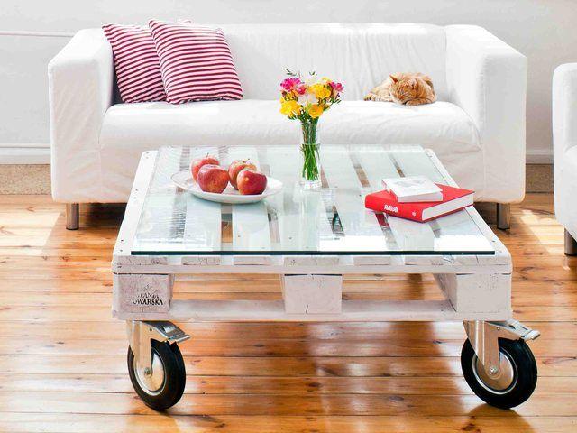 Meble Z Palet W Zrob To Sam Jak Zrobic Stolik Z Europalety Opis I Cena Pallette Furniture Pallet Decor Pallet Furniture