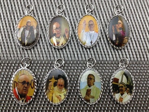 8 PCS Different Two sided Pope Francis by CatholicHosannaGifts,