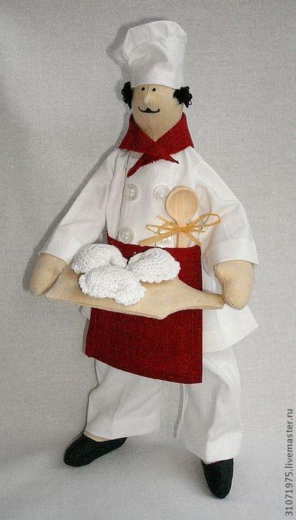 """Куклы Тильды ручной работы. Ярмарка Мастеров - ручная работа Повар""""Приятного аппетита!"""" продан. Handmade."""