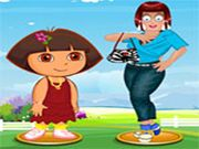 Zoe with Dora Dress Up    Hey kids! Here an interesting dress up game for you. Zoe the cutie and Dora the explorer planned to go for an outing. They both need a stylish look. Kids you know what? Zoe and Dora think that you will be the trendy person to give them a best outfit! Ready to dress up? Enjoy kids! Use Mouse to interact  http://ezarcade.net/games/zoe-with-dora-dress-up/
