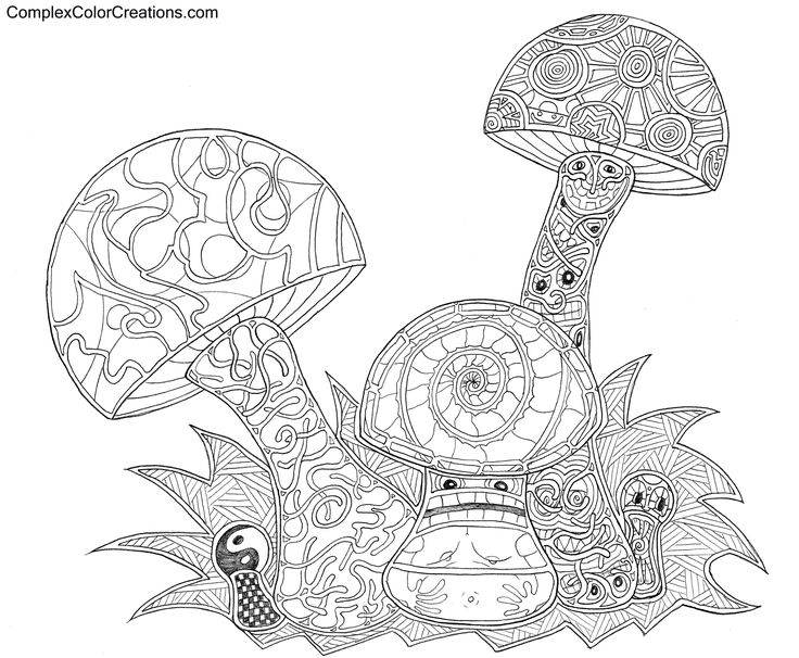 coloring pages of shrooms - photo#13