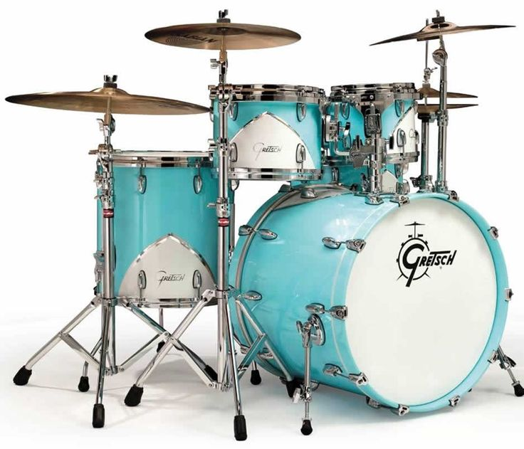 Gretsch's 57 Chevy Drum set in Turquoise.  - Wow, if I was still playing professionally, I'd be so all over these!!