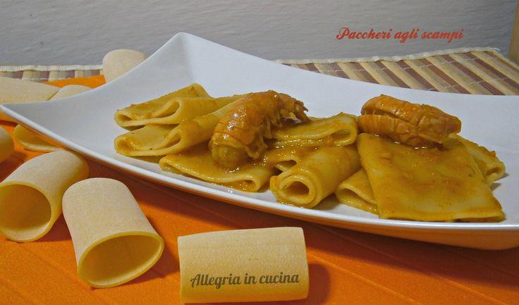 PACCHERI AGLI SCAMPI http://blog.giallozafferano.it/allegriaincucina/paccheri-agli-scampi/