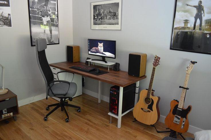 another ikea setup  battlestations  home office setup