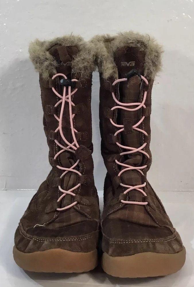 Teva Womens SIZE 3 Brown Winter Boots Mid Calf  Teva  WinterBoots  Outdoor c865acd24