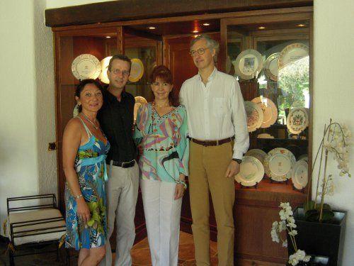Edmondo e Alessandra Segre with friends Laura and Sandro