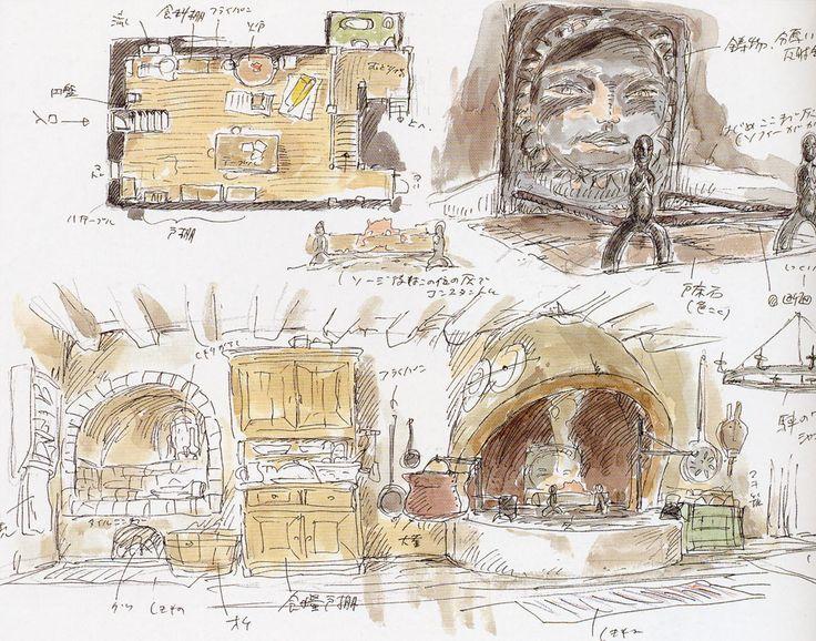 Howl's Moving Castle - Background Design