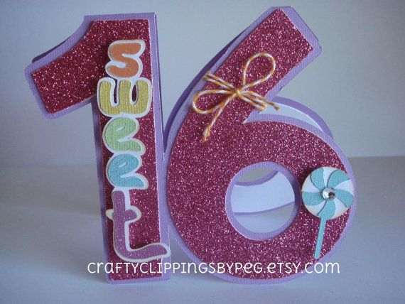 Sweet 16 Candy Birthday Card by CraftyClippingsbyPeg on Etsy