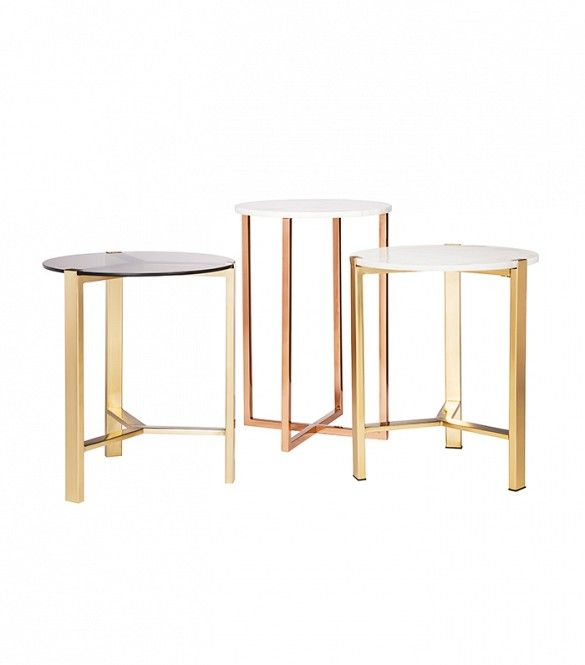 Nate Berkus for Target Stone and Smoked Glass Table Tops