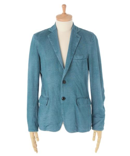 TOMORROWLAND (mens)(トゥモローランド メンズ) /リネンスプレー テーラードジャケット ブルー×M| 素材:表地_麻100% 裏地_キュプラ 製造国:中国