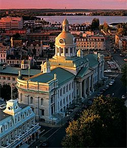 BEEN - Kingston, Ontario, Canada.  City was once a Capital City of Canada (before Confederation).  And the city is uniquely located at the Mouth of Lake Ontario.  Also has War of 1812 History.