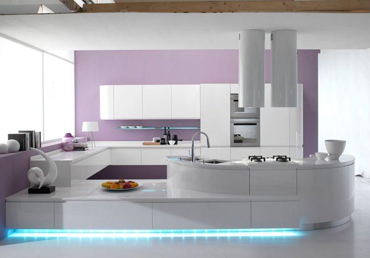 Modello di cucina moderna con penisola cucine - Cucine belle moderne ...