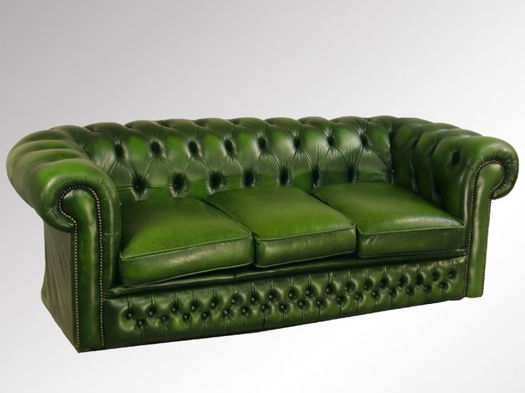Antique Green Chesterfield 3 Seat Leather Sofa  Http://maineantiquefurniture.com 14654A 1 | Les Intérieurs Verts |  Pinterest | Leather Sofas, ...
