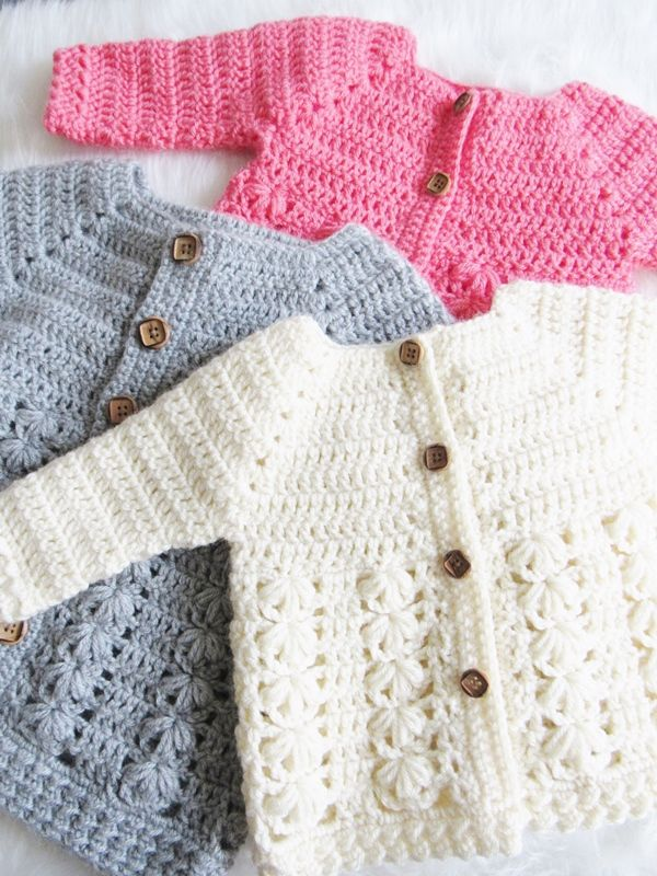 Textured Crochet Baby Sweater Pattern | Mur\'s Things To Make ...