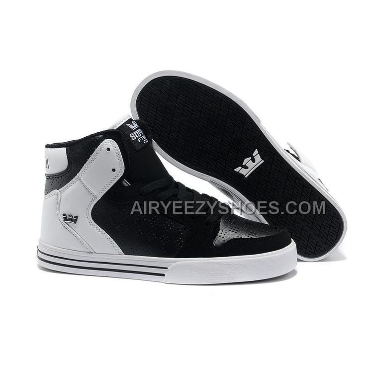 New Supra Vaider Black White Men's Shoes, Price: $60.00 - Air Yeezy Shoes - AirYeezyShoes.com