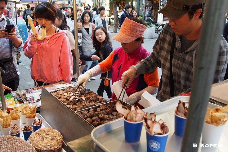Инсадон Корейская уличная еда.