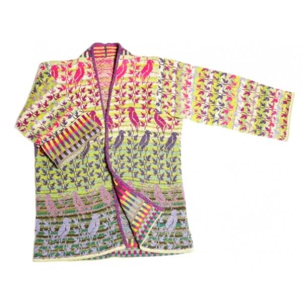 Christel Seyfarth Bird Jas / paars | Knits - European Yarn Import Agency