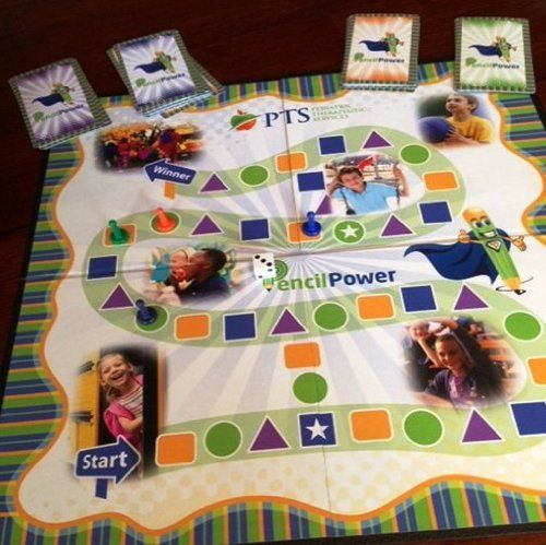 From Pediatric Therapeutic Services: The Pencil Power Board Game! Available at Amazon.com. Check out our blog at pediatrictherapeuticservices.wordpress.com