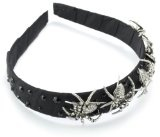 "Tarina Tarantino ""Gotham City"" Taffeta Ribbon Wrapped Headband - Tarina Tarantino ""Gotham City"" Taffeta Ribbon Wrapped Headband      Tarina Tarantino's creativeness transcends through her art from season to season.  She is inspired by everything that"