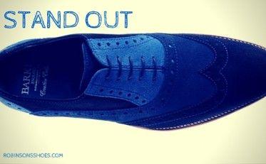 Barker shoes, blue shoes, mens shoes