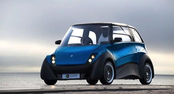 """デンマークの新興メーカーECOmoveは、全く新しい電気自動車""""ECOmove QBEAK""""を開発、2012年内にデビューさせることを計画している。    リサイクル可能で軽微な衝突ならば衝撃を吸収可能な非腐食性材料のボディを持つコンパクトクラスの車体を持つ電気自動車のクベックは、非常にフレキシブルな設計が特徴となっており、1席から6席までの設置可能なシート、他にも内装、外装パネルなどの部品を交換することで様々な用途や趣向に合わせてのカスタマイズが可能となっている。モーターはホイール内に備えられた、いわゆるインホイールモーターを採用。バッテリーは、取り外し可能なモジュールにより、最大6ユニットまで搭載が可能となっている(標準で300kmの航続距離)。なお、車輌重量は約400kgと極めて軽量。最高速度は120km/hを謳う。    (via http://alfalfalfa.com/archives/5813120.html )"""