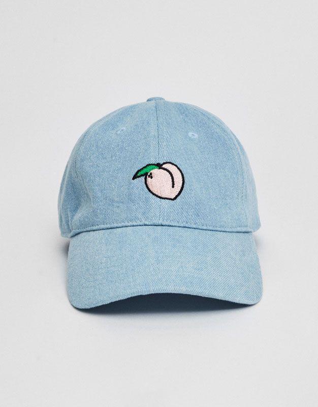 Pull&Bear - woman - accessories - caps & hats - embroidered cap - indigo - 05830302-V2017