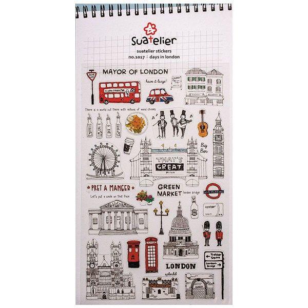 De charmants stickers London pour loisirs créatifs