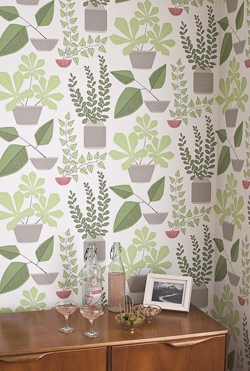 non-woven MissPrint House Plants Tapet