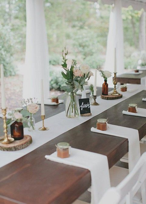 98 Rustic Wedding Table Settings | HappyWedd.com