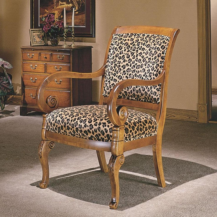 Charisma Chairs Naples Upholstered Exposed Wood Chair by Flexsteel -