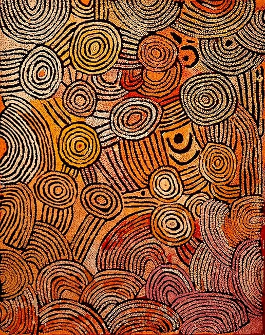 Nancy Nungurrayi, 153 x 122 cm. With the courtesy of Papunya Tula Artists.